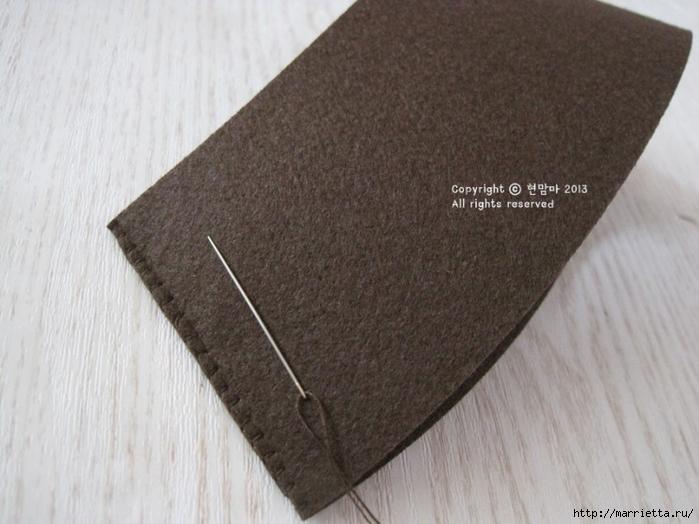 Клубничная тарталетка из фетра. Мастер-класс (7) (700x524, 227Kb)
