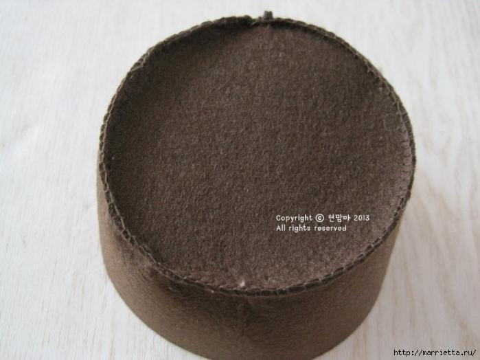 Клубничная тарталетка из фетра. Мастер-класс (8) (700x524, 202Kb)