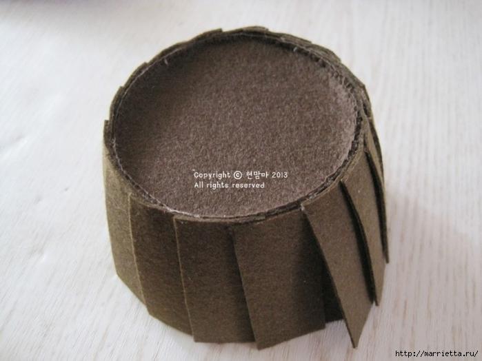 Клубничная тарталетка из фетра. Мастер-класс (10) (700x524, 199Kb)