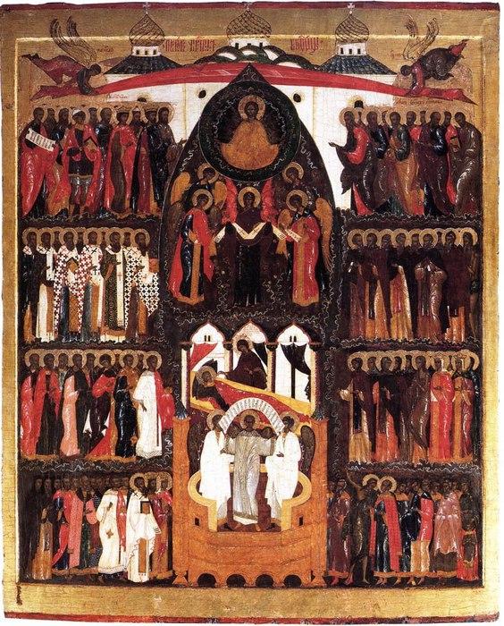 Покров Богоматери. Из Горицкого монастыря. . Третья четверть XVI в. Череповецкое музейное объединение (564x700, 162Kb)