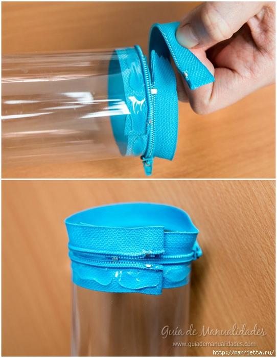 Органайзер или пенал из пластиковой бутылки (7) (542x700, 247Kb)