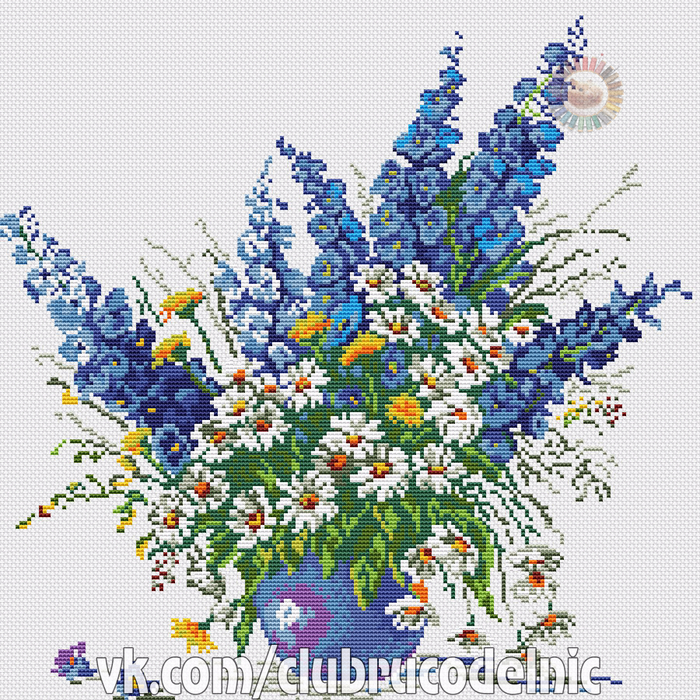 Blue Bouquet (700x700, 785Kb)