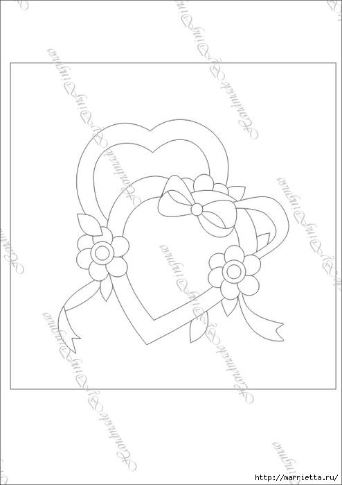 Любовное панно с сердечками в технике пэчворк (7) (494x700, 89Kb)