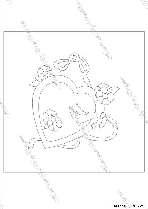 Любовное панно с сердечками в технике пэчворк (9) (494x700, 90Kb)