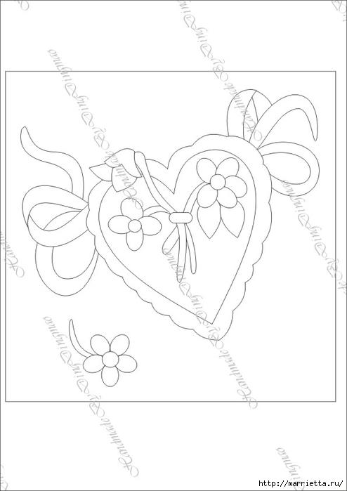 Любовное панно с сердечками в технике пэчворк (10) (494x700, 104Kb)
