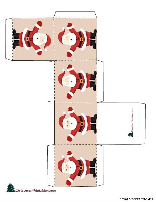 Новогодние коробочки. Шаблоны для распечатки (1) (540x700, 118Kb)
