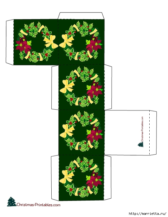 Новогодние коробочки. Шаблоны для распечатки (3) (540x700, 159Kb)