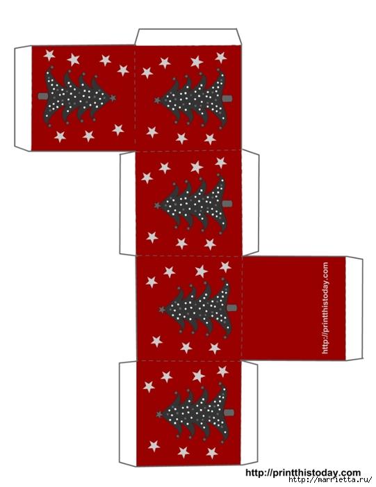 Новогодние коробочки. Шаблоны для распечатки (8) (541x700, 116Kb)
