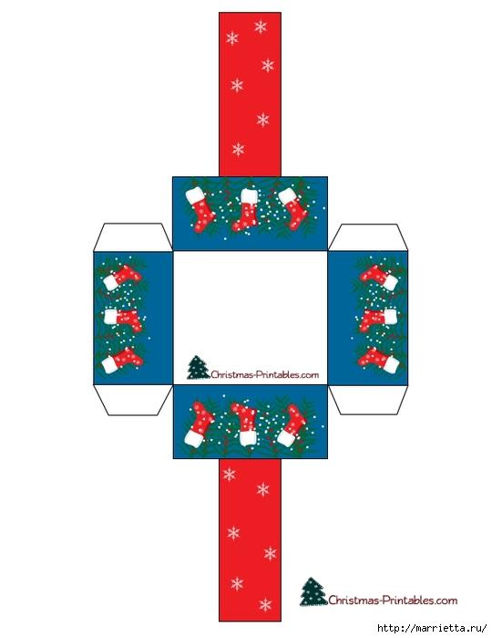 Новогодние коробочки. Шаблоны для распечатки (14) (540x700, 98Kb)