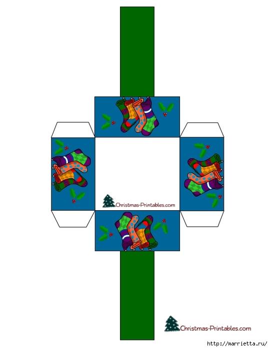 Новогодние коробочки. Шаблоны для распечатки (16) (540x700, 82Kb)