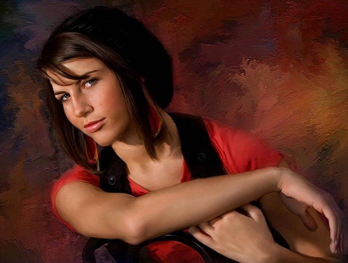 Молодые девушки в живописи