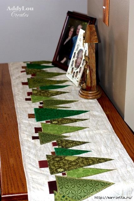 servilleta de Navidad con árboles de Navidad.  Acolchar (1) (427x640, 207KB)