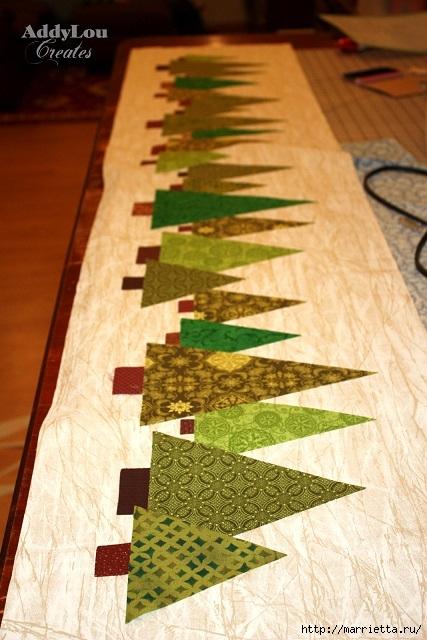 servilleta de Navidad con árboles de Navidad.  Acolchar (9) (427x640, 199KB)