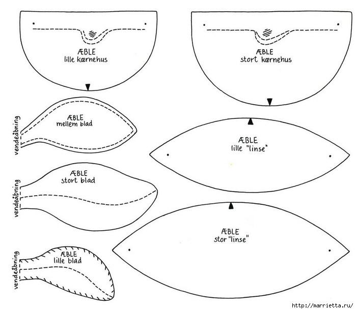 Украшаем интерьер текстильными яблочками (1) (699x612, 122Kb)