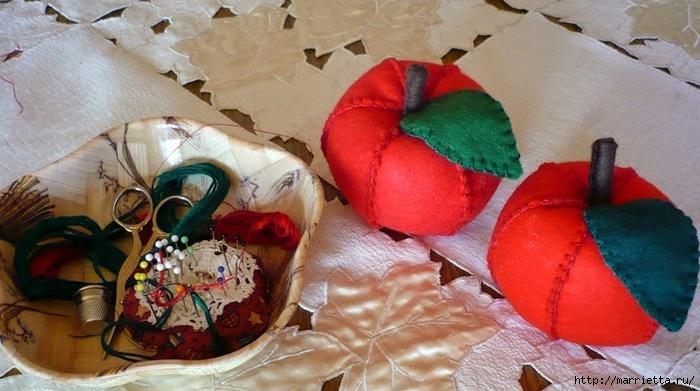 Украшаем интерьер текстильными яблочками (2) (700x391, 229Kb)