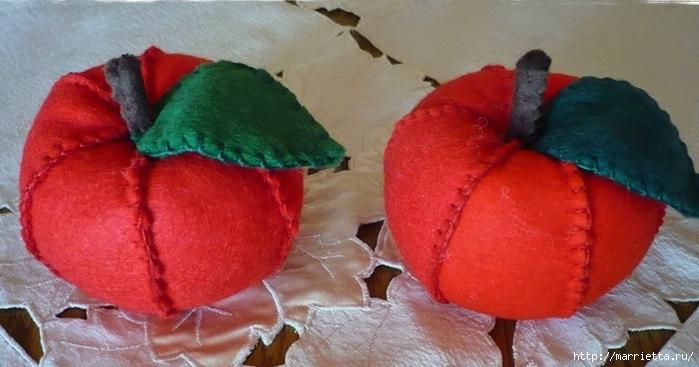 Украшаем интерьер текстильными яблочками (4) (700x367, 192Kb)