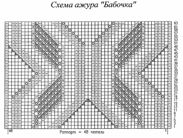 Вязание бабочек спицами схемы и описание 8