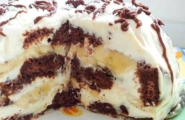 пряничный торт с бананами (601x390, 205Kb)