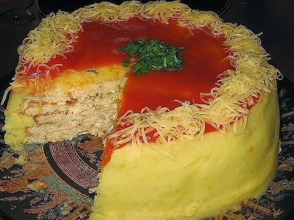 торт из куриного фарша(604x453, 310Kb)
