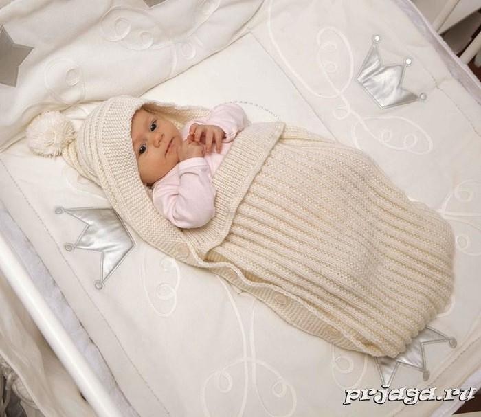 Конверт для новорожденных своими руками спицами
