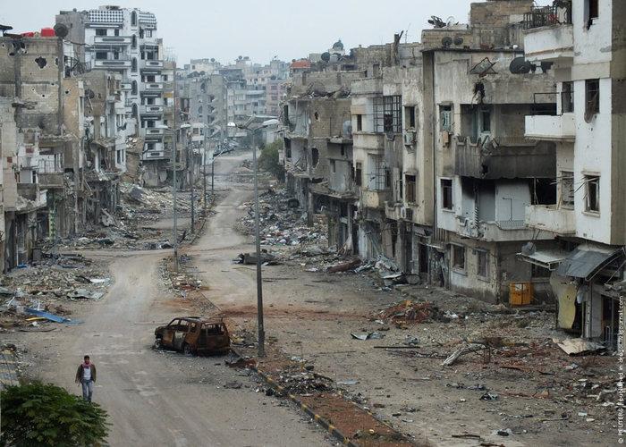 Один из городов в Сирии
