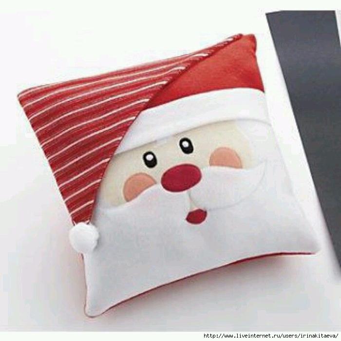 Подушка на новый год с