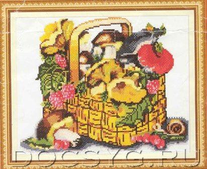 схема вышивки Грибы и ягоды (412x336, 192Kb)