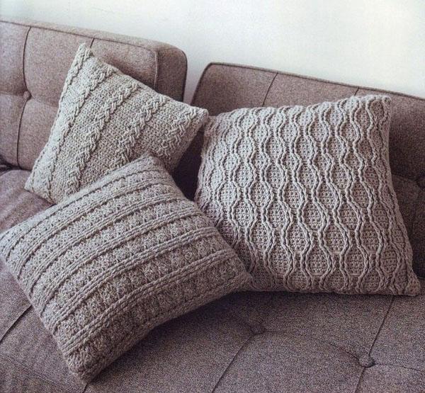 Чехлы для подушек, связанные