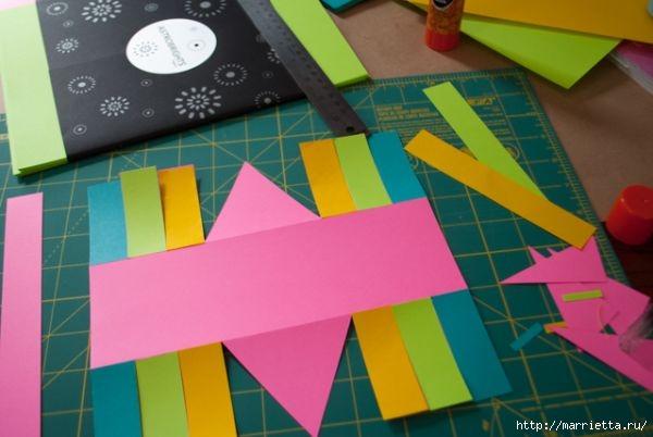 Корзинка из цветной бумаги своими руками (7) (600x402, 110Kb)