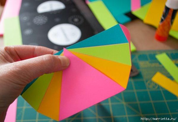Корзинка из цветной бумаги своими руками (9) (600x411, 99Kb)