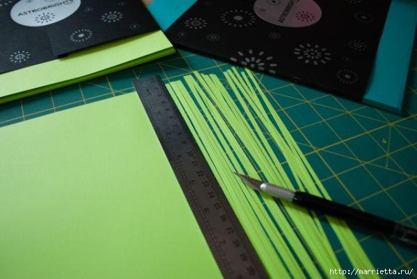 Корзинка из цветной бумаги своими руками (15) (600x402, 106Kb)