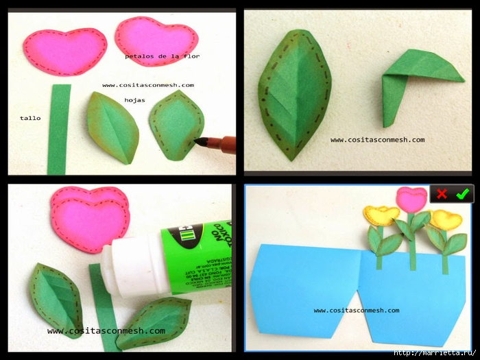 Бумажные цветы для детского подарка к 8 марта (16) (700x525, 239Kb)