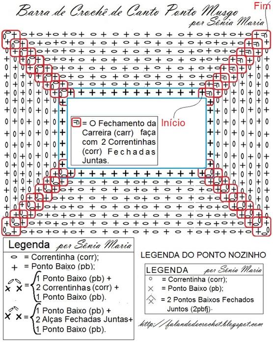 BARRA DE CROCHE  PARA TAPETES E MANTAS GRAFICO (556x700, 395Kb)