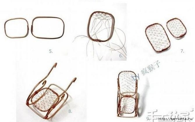 Для кукол. Кресло-качалка из проволоки (3) (670x419, 112Kb)