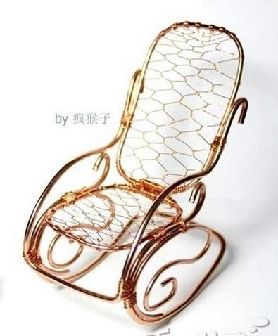 Для кукол. Кресло-качалка из проволоки (5) (395x478, 137Kb)