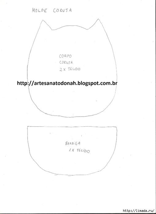 MOLDE MГѓE CORUJA 001 (508x700, 52Kb)