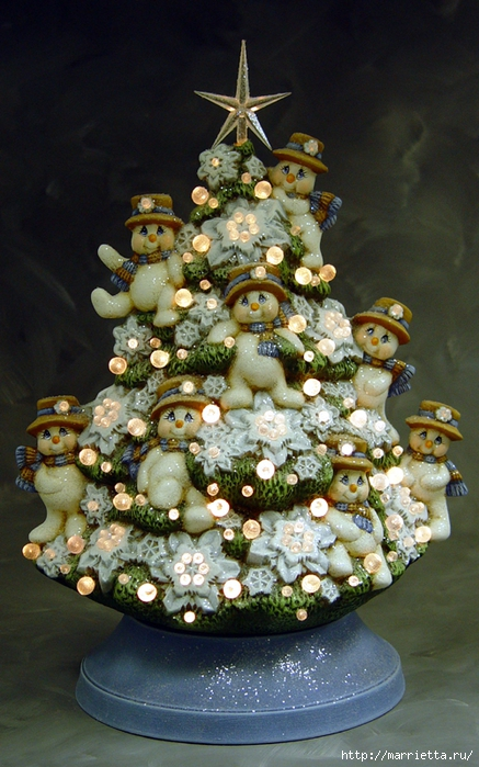 Из полимерной глины. Идеи новогодних подарков (4) (437x700, 291Kb)