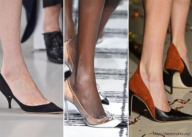 Модные тенденции обуви осень-зима