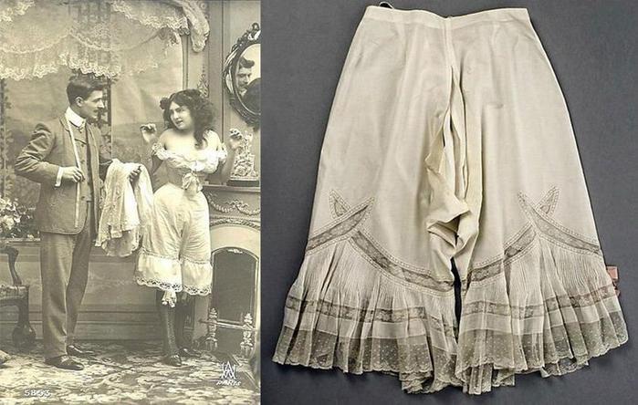 125607634 101415 1202 1 Дамское нижнее бельё второй половины XIX века: «аморальные» батистовые панталоны