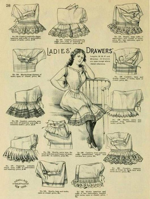 125607640 101415 1202 6 Дамское нижнее бельё второй половины XIX века: «аморальные» батистовые панталоны