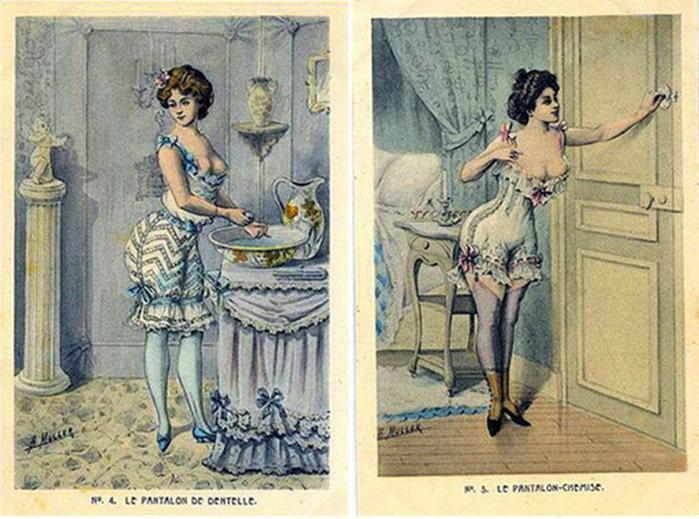 125607642 101415 1202 8 Дамское нижнее бельё второй половины XIX века: «аморальные» батистовые панталоны