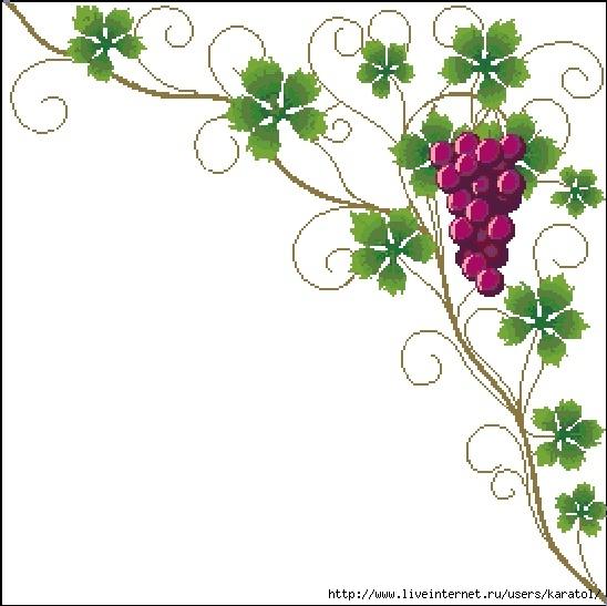 Grapes Border-1730-O-Free-Design (548x547, 146Kb)