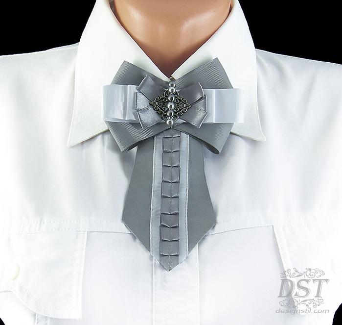 Брошь галстук из лент своими руками мастер класс видео