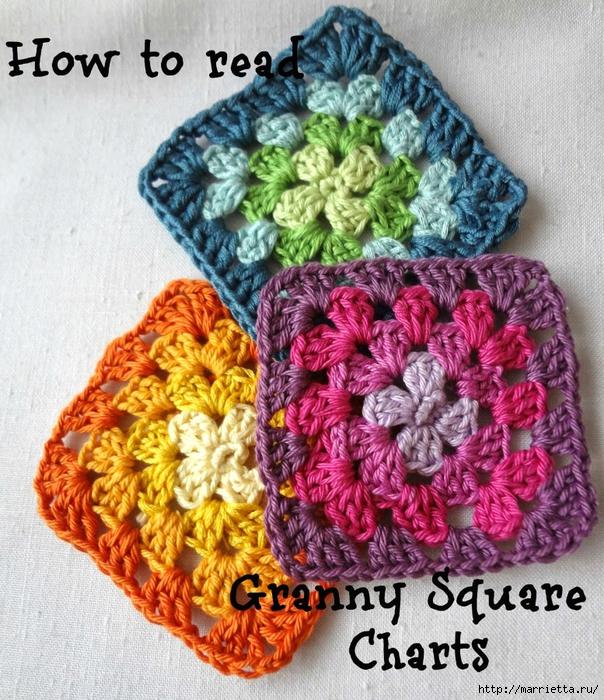 Бабушкин квадрат - мотивы для вязания пледов, подушек и покрывал (4) (604x700, 420Kb)