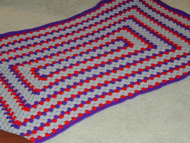Вязание крючком прямоугольных ковриков 10