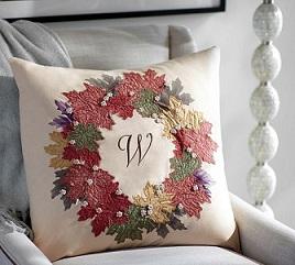 pottery-barn-leaf-wreath-pillow2 (268x241, 68Kb)