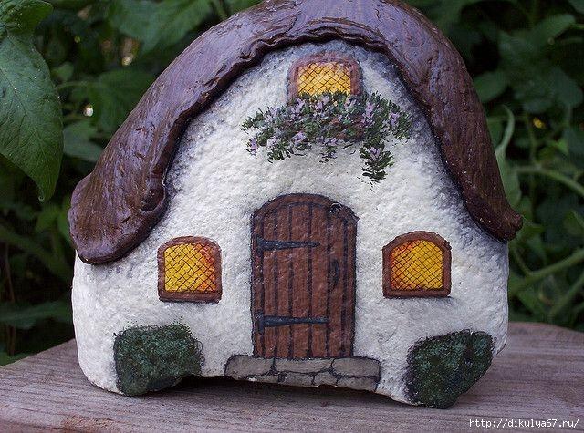 Поделки из камней домики