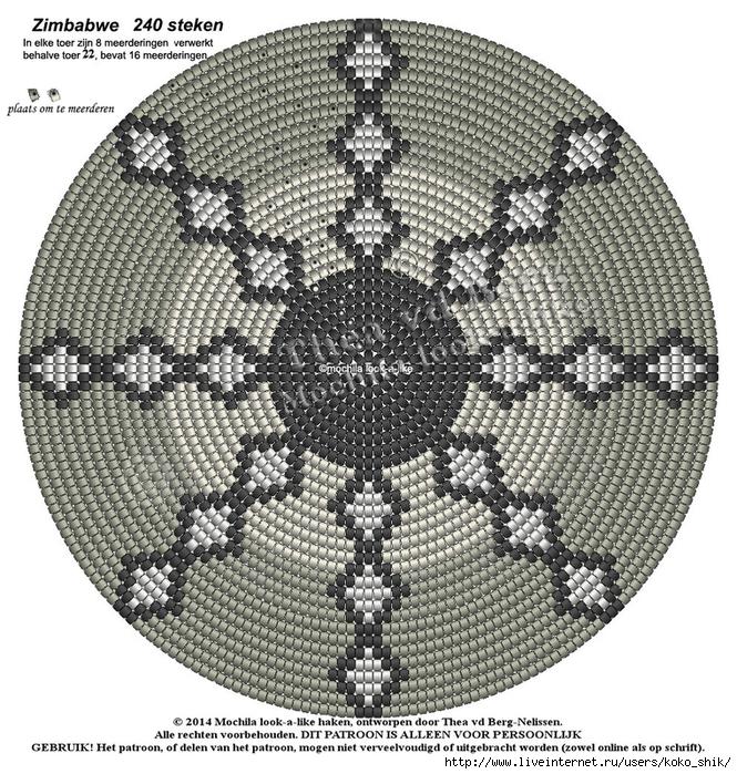 Схемы жаккард крючком - 8 (665x700, 463Kb)