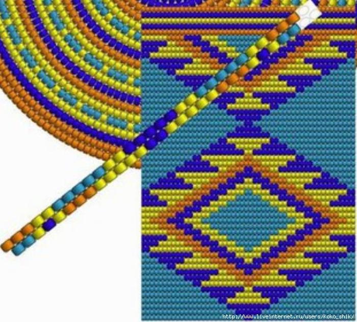 Схемы жаккард крючком - 19б (700x633, 349Kb)