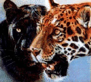 """Схема вышивки """"Тигры. Панно"""","""